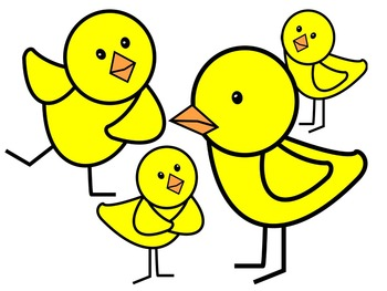 BABY CHICK CLIP ART * COLOR AND BLACK AND WHITE