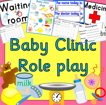 BABY CLINIC role play pack- dramatic play, ourselves