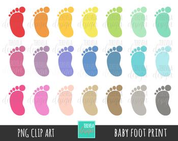 BABY FOOT PRINT, FOOT PRINT clipart,  KIDS FOOT PRINT, COLORS, PRINT