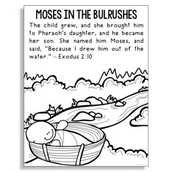 Moses Bible Printables - Christian Preschool Printables   350x350