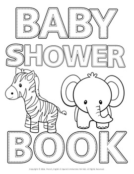 BABY SHOWER ABC COLORING BOOK! by French English And Spanish ...