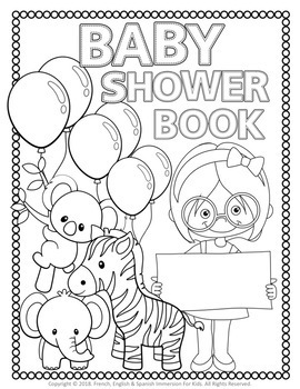 BABY SHOWER COLORING BOOK - NEW!