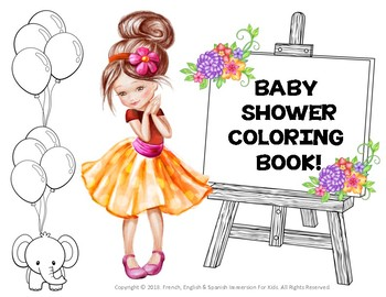 BABY SHOWER COLORING BOOK: FLOWER GIRLS! NEW PRODUCT!
