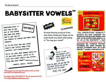 BABYSITTER VOWELS® Headband Pack (from the SECRET STORIES® Phonics Secrets!)