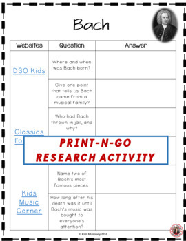 BACH Research Activity Sheets