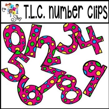 {BACK-2-SCHOOL} FREEBIE #1 - Dot Numbers Clipart