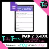 BACK-2-SCHOOL Student Information Form (Digital)