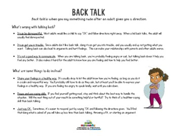 BACK TALK (Behavior)
