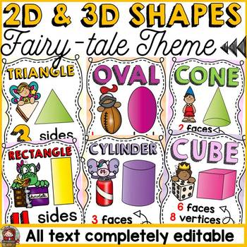 BACK TO SCHOOL 2D AND 3D SHAPES {FAIRYTALE THEME}