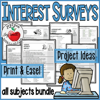 personal interest surveys student interest inventories for projects and learning 2141