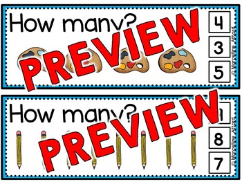 BACK TO SCHOOL ACTIVITIES: BACK TO SCHOOL COUNTING CLIP CARDS: NUMBERS 1 TO 10
