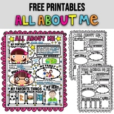 POSTER ALL ABOUT ME★ BACK TO SCHOOL ACTIVITIES ★ FREE PRINTABLES