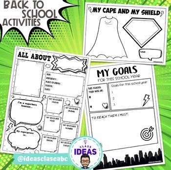 BACK TO SCHOOL ACTIVITIES- Comic- Superhero Theme Classroom Decor