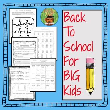 BACK TO SCHOOL ACTIVITIES {GRADES 3-5}