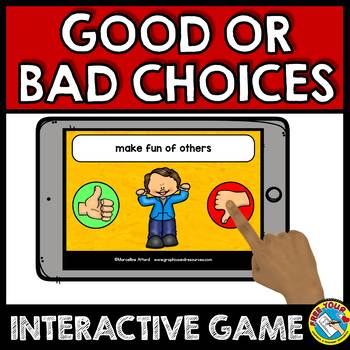 BACK TO SCHOOL ACTIVITY PREK+ (GOOD CHOICES VS BAD CHOICES SORT) BOOM CARDS