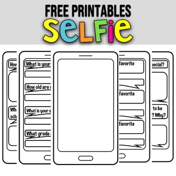 SELFIE ALL ABOUT ME ★ BACK TO SCHOOL ACTIVITIES ★FIRST DAY OF CLASSES  ACTIVITIES