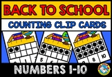 BACK TO SCHOOL ACTIVITY PREK (TEN FRAMES CLIP CARDS) PRE K MATH 10 FRAMES CENTER