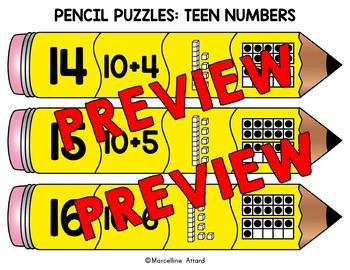 BACK TO SCHOOL ACTIVITY 1ST GRADE MATH (DECOMPOSING TEEN NUMBERS KINDERGARTEN)
