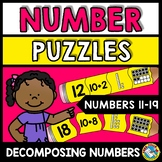 BACK TO SCHOOL ACTIVITY 1ST GRADE MATH (DECOMPOSING TEEN N