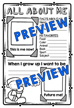 BACK TO SCHOOL  ALL ABOUT ME POSTER 2ND GRADE