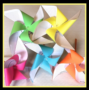 BACK TO SCHOOL ACTIVITY ALL ABOUT ME PINWHEELS