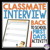 BACK TO SCHOOL ACTIVITY: CLASSMATE INTERVIEW