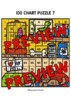 BACK TO SCHOOL ACTIVITY FIRST GRADE (100 CHART MYSTERY PICTURE PUZZLES)