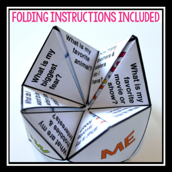 BACK TO SCHOOL ACTIVITY: GET TO KNOW ME FORTUNE TELLER