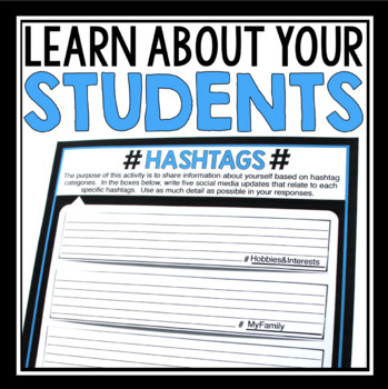 BACK TO SCHOOL ACTIVITY: HASHTAGS