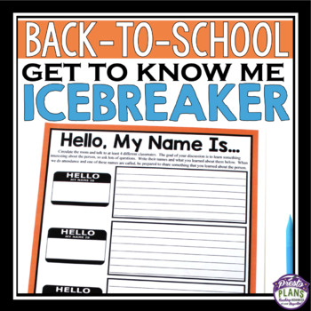BACK TO SCHOOL ACTIVITY: INTRODUCTIONS ICEBREAKER