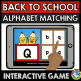 BACK TO SCHOOL ACTIVITY KINDERGARTEN (BOOM CARD ELA) SEPTE