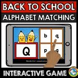 BACK TO SCHOOL ACTIVITY KINDERGARTEN (BOOM CARD ELA) SEPTE