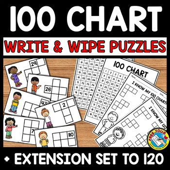 BACK TO SCHOOL ACTIVITY SECOND GRADE (100 CHART MISSING NUMBERS PUZZLE CARDS)