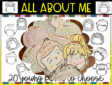 BACK TO SCHOOL ACTIVITIES - All about ME - 20 YOUNG FACES