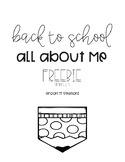 BACK TO SCHOOL ALL ABOUT ME FREEBIE!