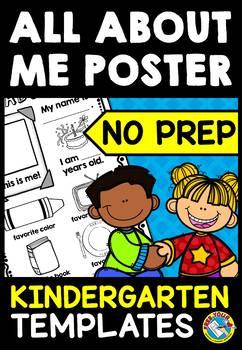 BACK TO SCHOOL ACTIVITIES KINDERGARTEN (ALL ABOUT ME KINDERGARTEN POSTER)