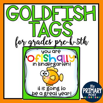 BACK TO SCHOOL- ALL GRADES- OFISHALLY IN GRADE- GOLDFISH TAG