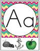 BACK TO SCHOOL ALPHABET POSTERS AND CARD SET PINEAPPLE THEME