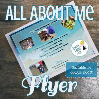 All About Me Flyer - Editable in Google Slides!