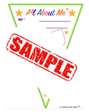 BACK TO SCHOOL Amazing Bunting: All About Me