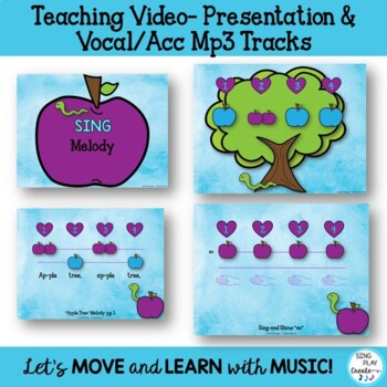 """Back to School Game Song """"Apple Tree"""" Orff-Kodaly-Lessons-Worksheets Mp3"""