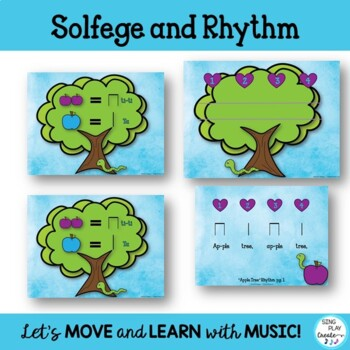"""Game Song """"Apple Tree"""" So-Mi Music Lesson Worksheets Mp3"""