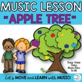 "Game Song ""Apple Tree"" So-Mi Music Lesson Worksheets Mp3"
