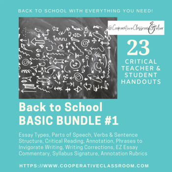 BACK TO SCHOOL!! BASIC BUNDLE #1 (*AP Appropriate)