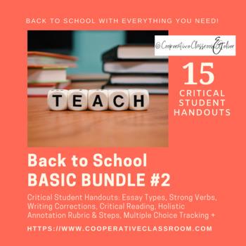 BACK TO SCHOOL! BASIC BUNDLE #2: Critical Student Handouts (*AP Appropriate)