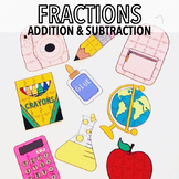 BACK TO SCHOOL BEGINNING OF THE YEAR ACTIVITIES ADDING AND SUBTRACTING FRACTIONS