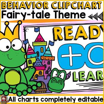 BACK TO SCHOOL BEHAVIOR MANAGEMENT EDITABLE CLIP CHART {FAIRYTALE THEME} DECOR