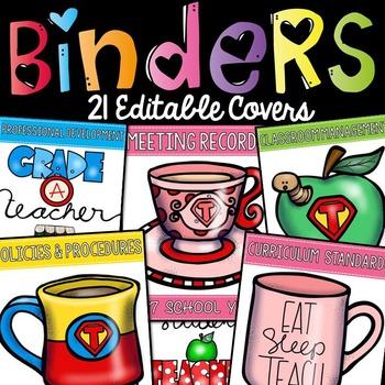 BACK TO SCHOOL: BINDER COVERS: EDITABLE