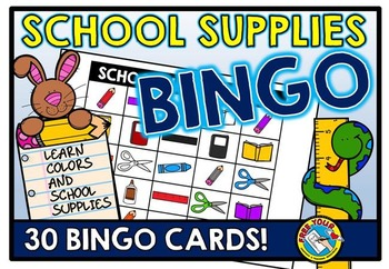 BACK TO SCHOOL IDEAS FOR ELEMENTARY STUDENTS: BACK TO SCHOOL BINGO GAME