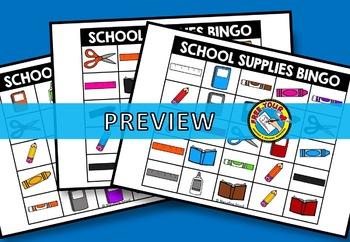BACK TO SCHOOL ACTIVITIES FOR KINDERGARTEN + (BACK TO SCHOOL BINGO GAME)